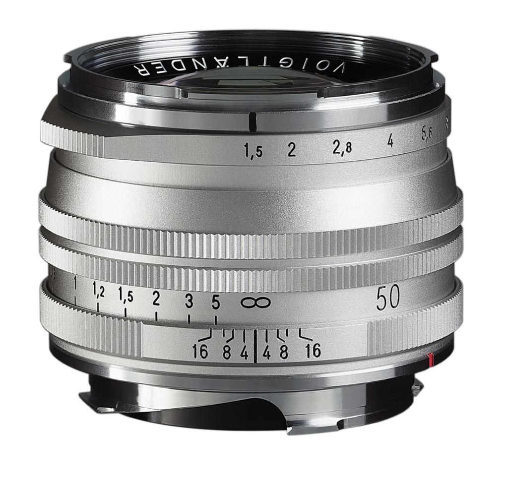 Voigtländer VM 50mm 1:1,5 Nokton M.C. asphärisch Leica M silber