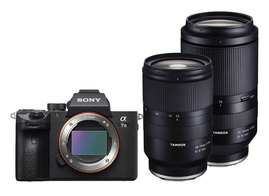 Sony Alpha 7 III (ILCE7M3B) + Tamron 28-75mm 1:2,8 Di III RXD + Tamron 70-180mm 1:2,8 Di III VXD