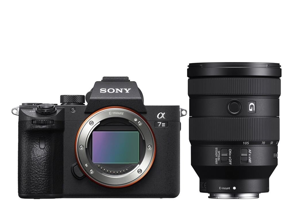 Sony Alpha 7 III (ILCE7M3B) + SEL FE 24-105mm 1:4 G OSS (SEL24105G) (ILCE7M3GBDI KIT) + SEL FE 50mm 1:2,5 G (SEL50F25G)
