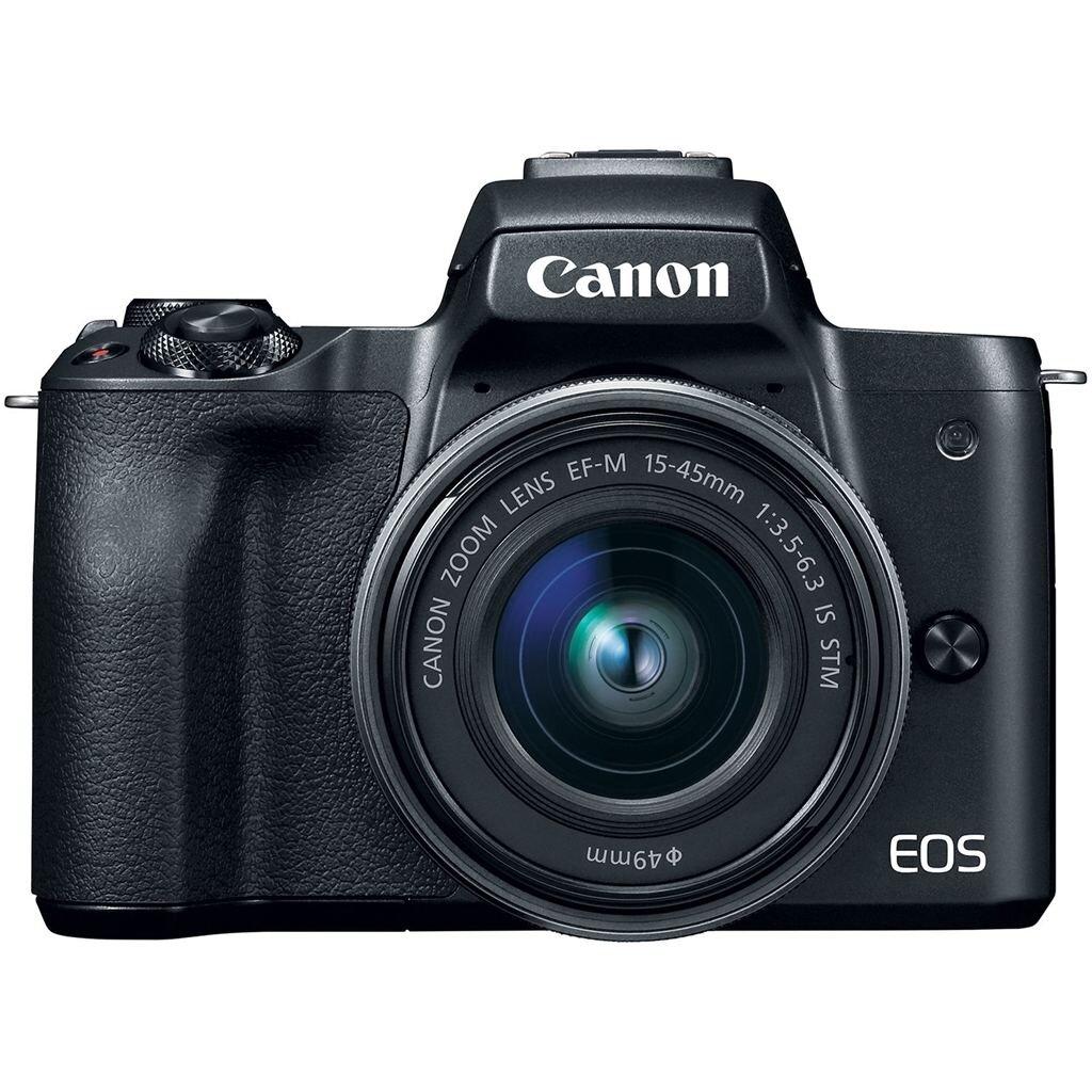 Canon EOS M50 schwarz + EF-M 15-45mm 1:3,5-6,3 IS STM