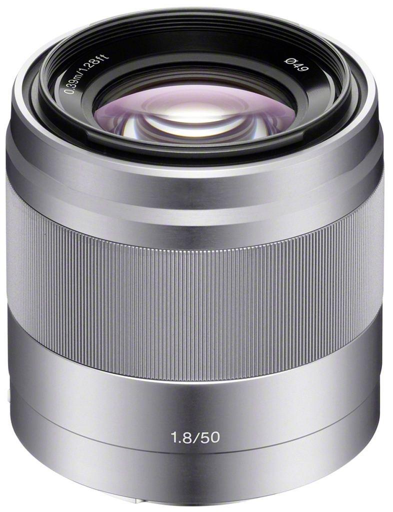 Sony SEL 50mm 1:1,8 OSS (SEL50F18) E-Mount silber