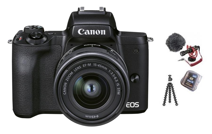 Canon EOS M50 II schwarz + EF-M 15-45 mm IS STM Vlogger Kit