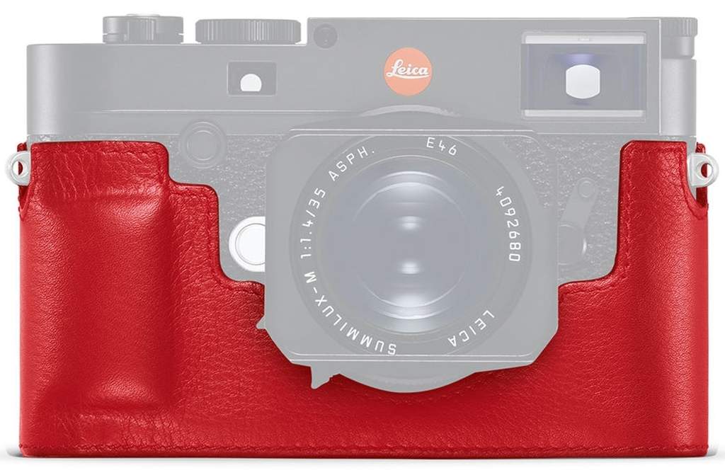 Leica Protektor M10, Leder, rot 24022