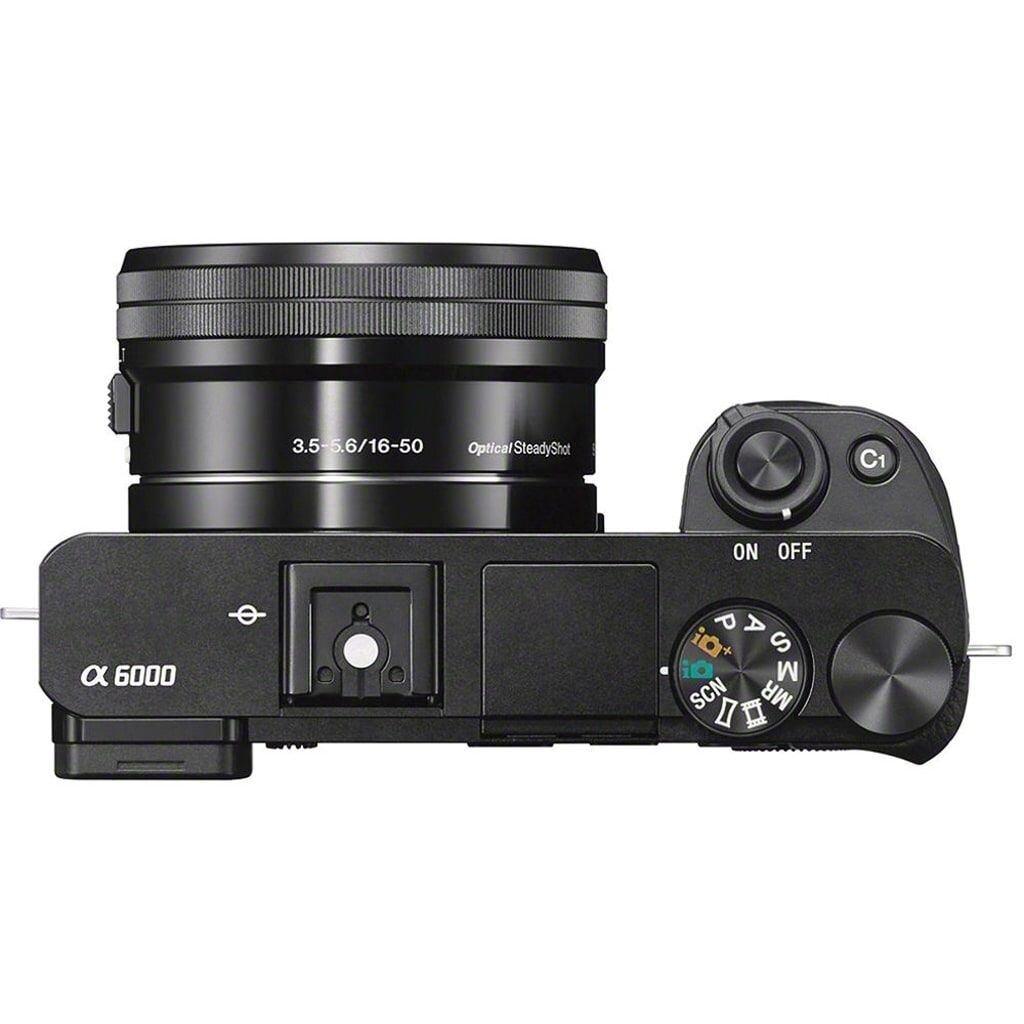 Sony alpha 6000 schwarz inkl. E PZ 16-50 mm 1:3,5-5,6 OSS