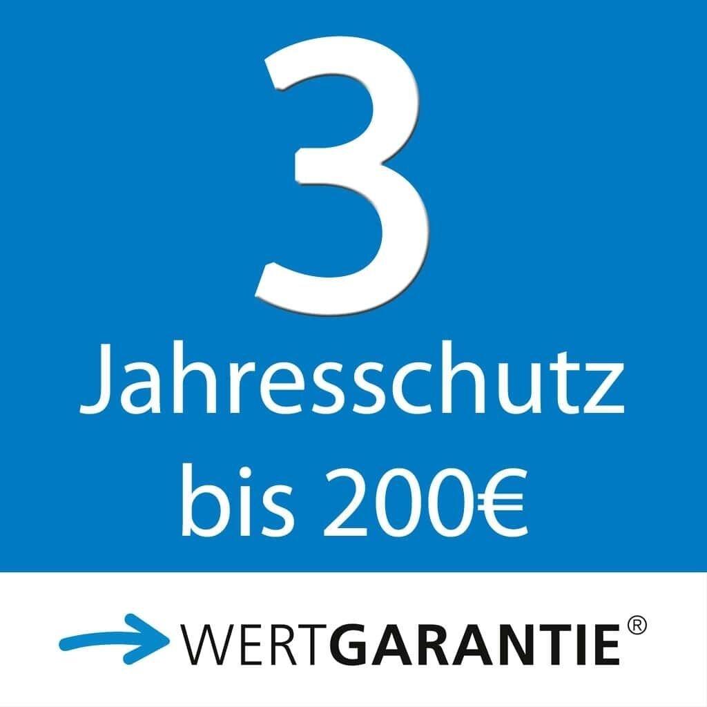 Wertgarantie 3 Jahresschutz bis 200,- Euro