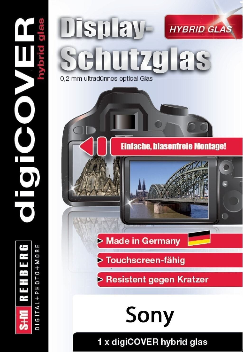digiCOVER Display Schutzglas f. Sony alpha 77V/77II
