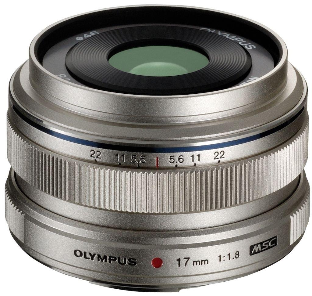 Olympus M Zuiko Digital 17 mm 1:1,8 silber
