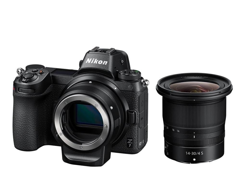 Nikon Z7 + NIKKOR Z 14-30mm 1:4,0 S + FTZ Objektivadapter