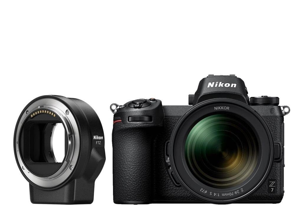 Nikon Z7 + NIKKOR Z 24-70mm 1:4,0 S + FTZ Objektivadapter