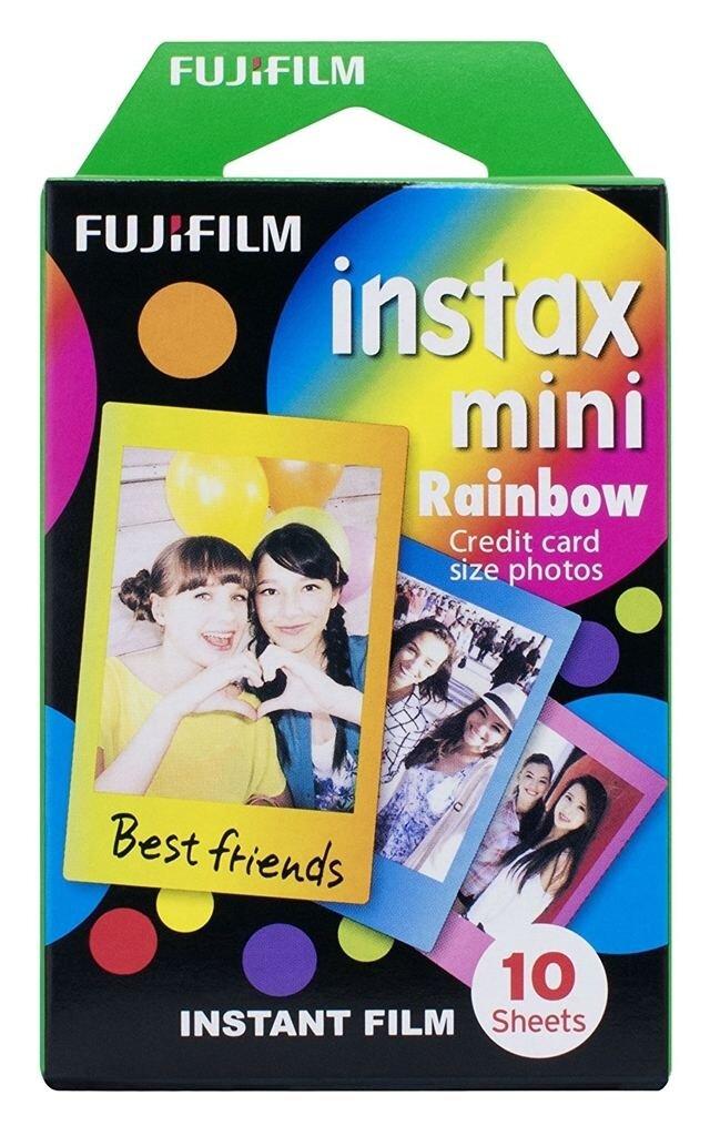 Fujifilm Instax Mini Sofortbildfilm Color Rainbow für 10 Aufnahmen