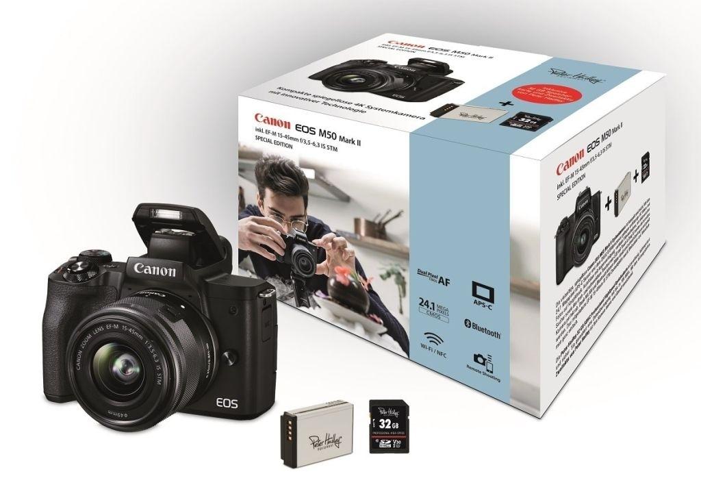 Canon EOS M50 II schwarz inkl. EF-M 15-45 1:3.5-6.3 IS STM Special Kit