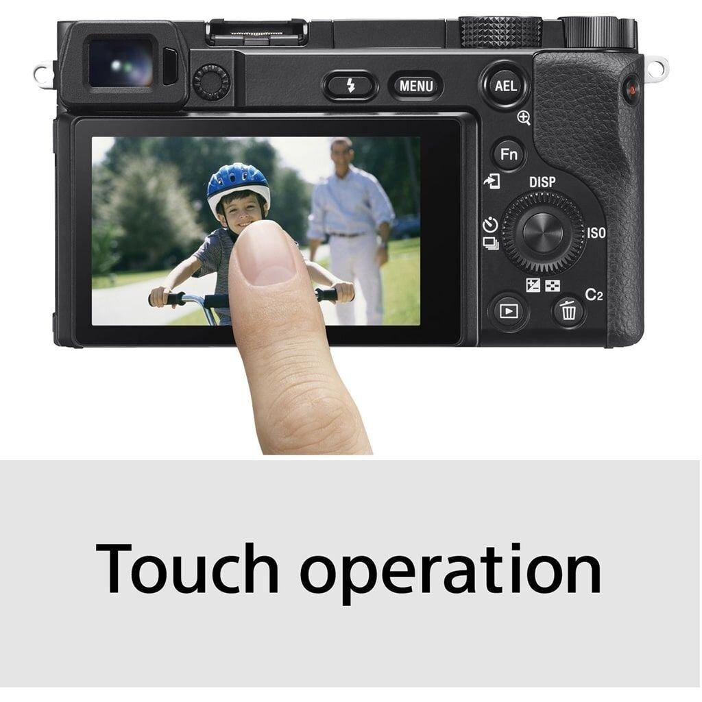 Sony alpha 6100 schwarz inkl. 16-50mm 1:3,5-5,6 E PZ OSS & 55-210mm 1:4,5-6,3 E OSS