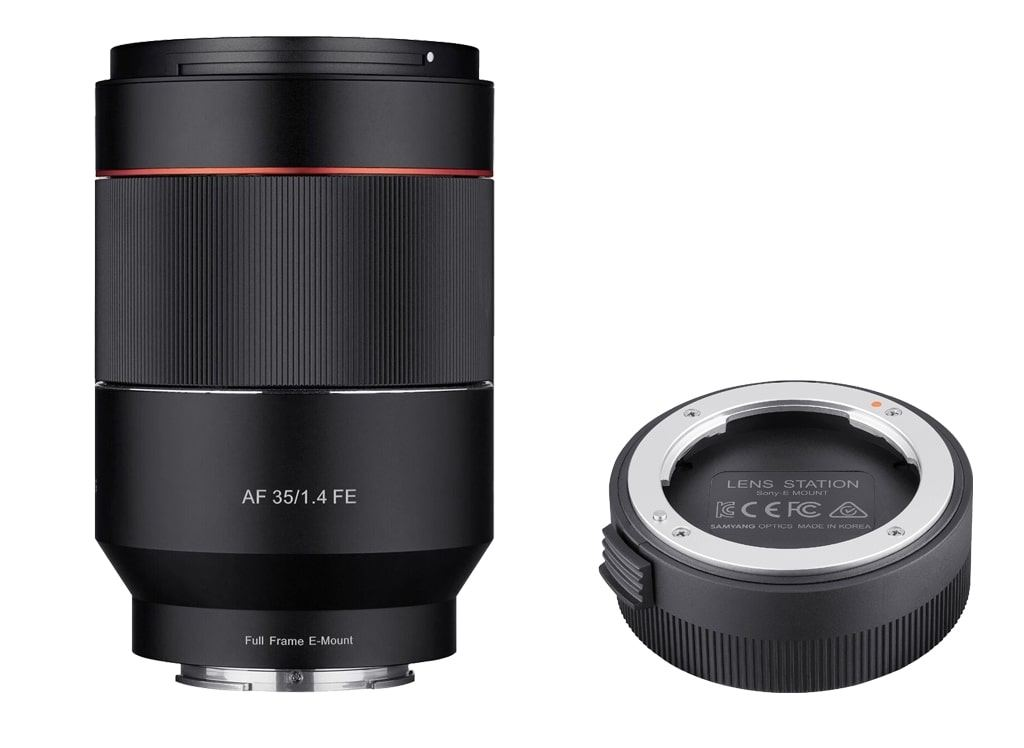 Samyang AF 35mm 1:1,4 FE inkl. Lens Station für Sony E