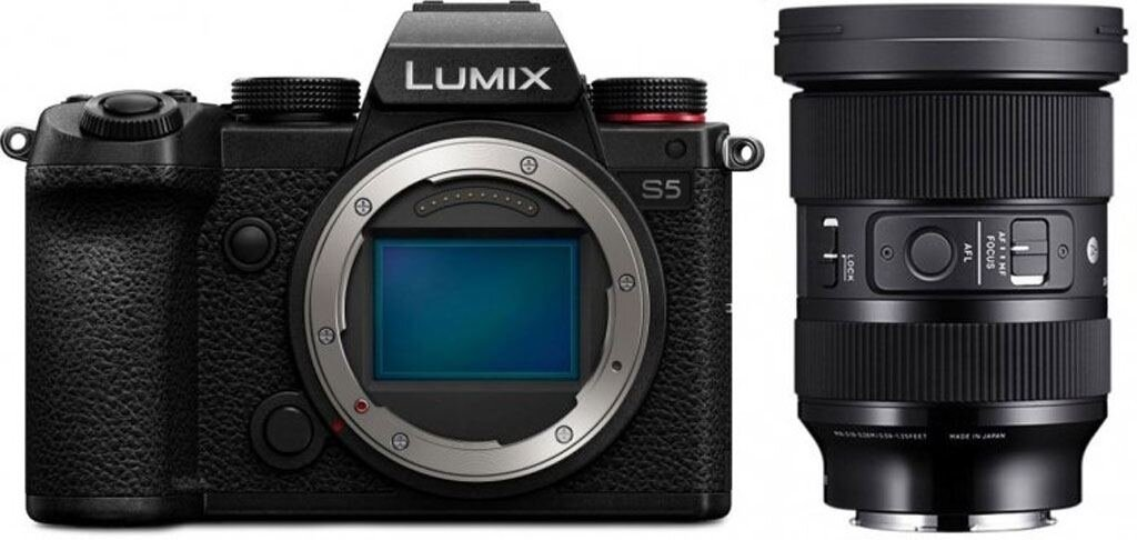 Panasonic LUMIX DC-S5 inkl. Sigma 24-70mm 1:2,8 DG DN Art  / -300€ Sofortrabatt / Inzahlungnahmebonus 200€ möglich