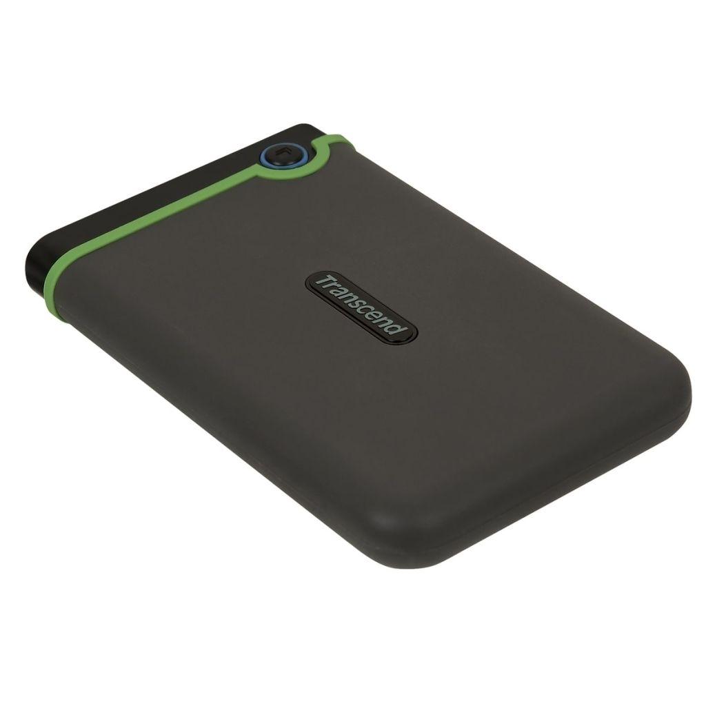 """Transcend Slim StoreJet 25M3S 2TB grau-grün, externe 2,5"""" HDD-Festplatte"""