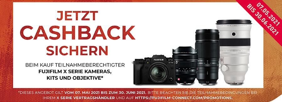 FUJIFILM X-T4 & XF Objektiv Cashback 07.05.2021 - 30.06.2021