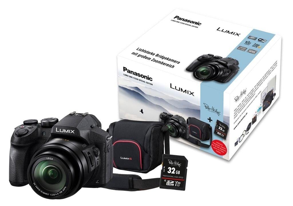Panasonic LUMIX DMC-FZ330 Special Kit inkl. 32GB SDHC Speicherkarte und Tasche