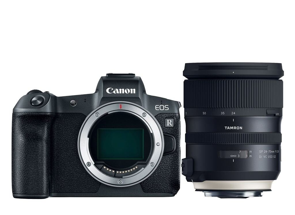 Canon EOS R + Tamron 24-70mm 1:2.8 Di VC USD G2 + Mount Adapter EF-EOS R  abzgl. 150€ Trade-In Bonus