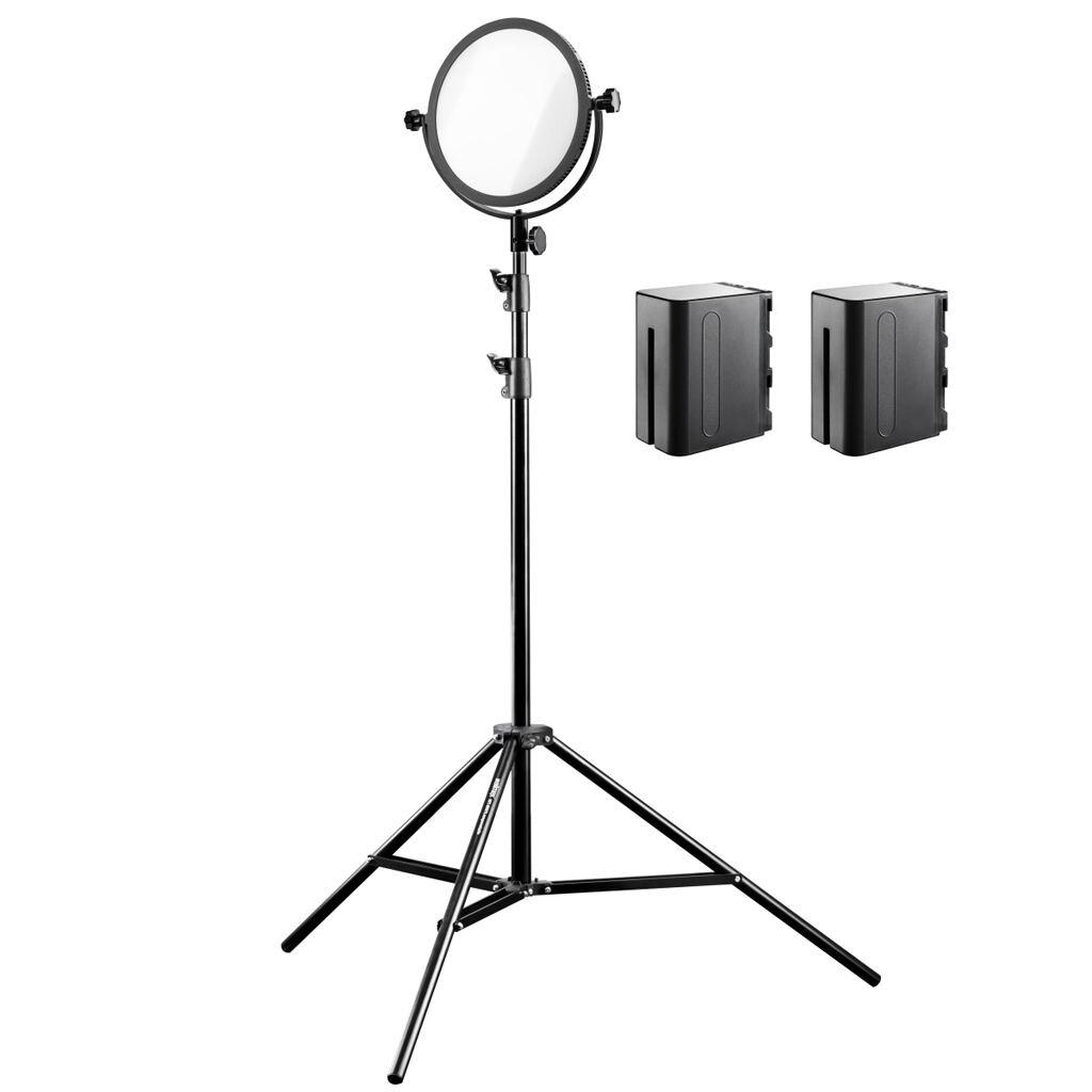 Walimex Pro Soft LED 300 Round Bi Color Set 2