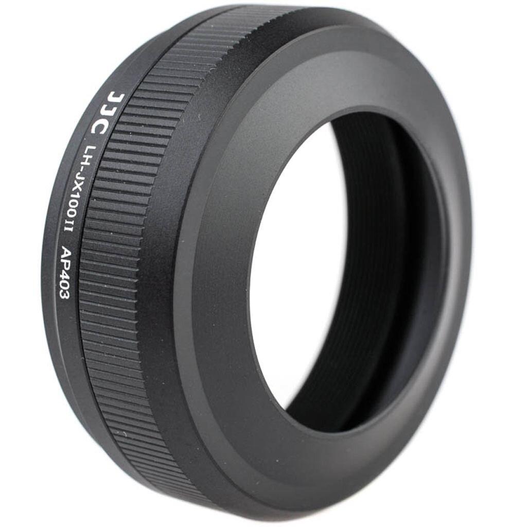 JJC Spezial-Gegenlichtblende inkl. 49mm-Adapter für Fujifilm Finepix X100F, X100T, X100S, X100 - schwarz