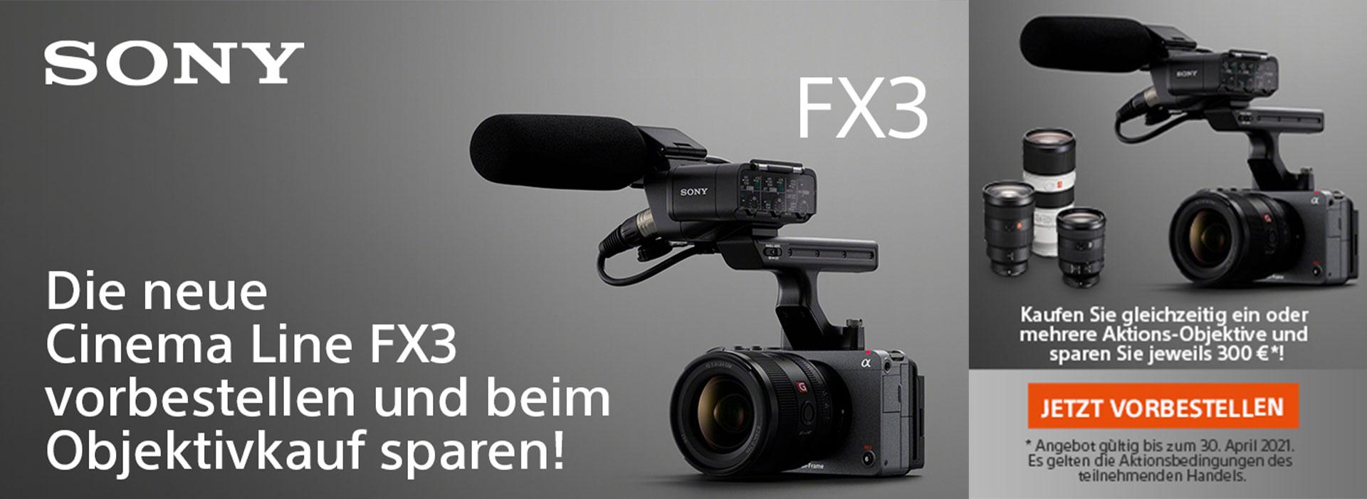 Sony Alpha FX3 Kombi-Rabatt bei Fotomax in Nürnberg und Berlin