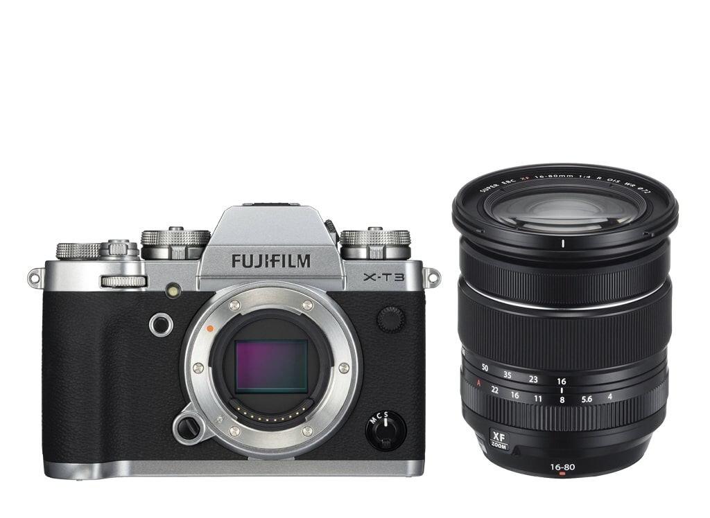Fujifilm X-T3 silber inkl. XF 16-80mm 1:4 R OIS WR