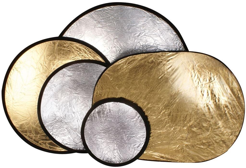Helios Faltreflektor silber/gold 56cm