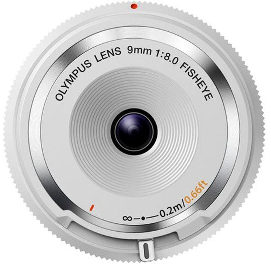 Olympus M. Zuiko Dig. 9mm 1:8,0 fisheye Deckeloptik weiß