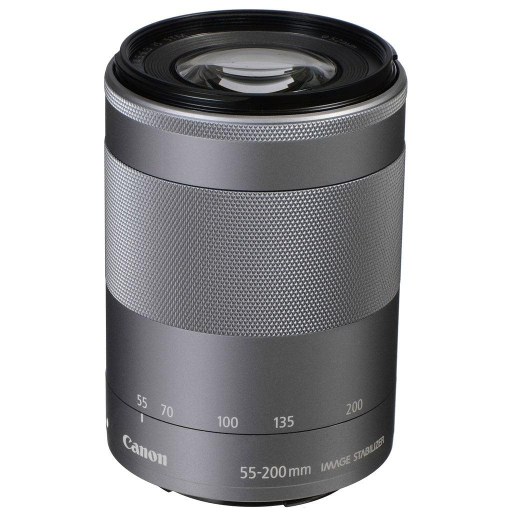 Canon EF-M 55-200mm 1:4,5-6,3 IS STM silber aus Set