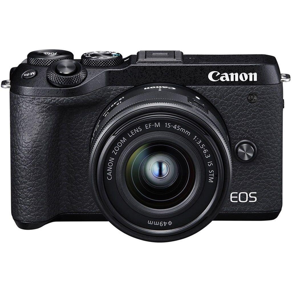 Canon EOS M6 II schwarz inkl. EF-M 15-45mm 1:3,5-5,6 IS STM + EVF-DC2 Aufstecksucher