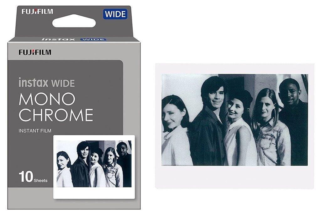 Fujifilm Instax Wide Sofortbildfilm monochrome für 10 Aufnahmen