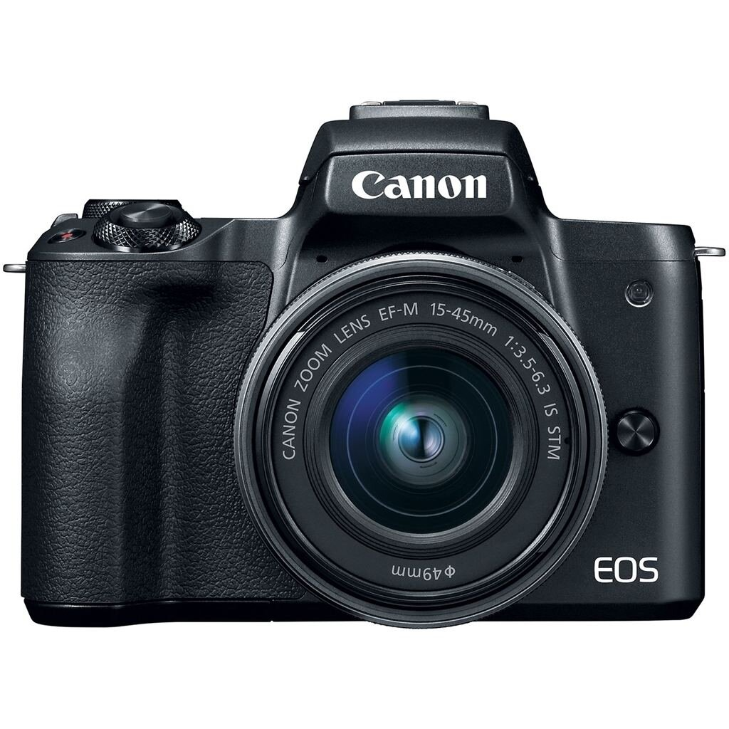 Canon EOS M50 schwarz + EF-M 15-45mm 1:3,5-6,3 IS STM + EF-M 22mm 1:2,0 STM