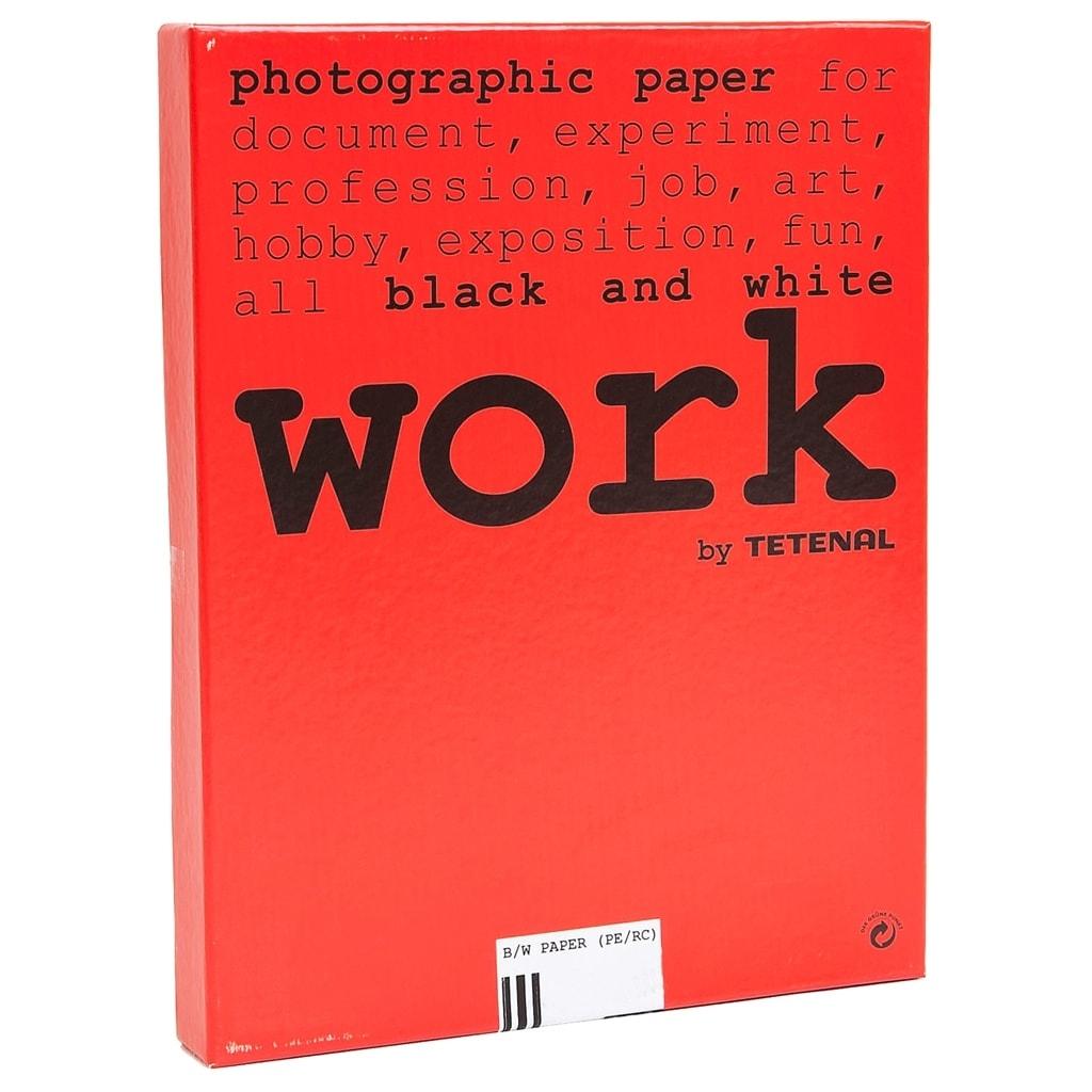 Tetenal work Papier 10,5 x 14,8cm Grad.3, Halbmatt 100 Bl.