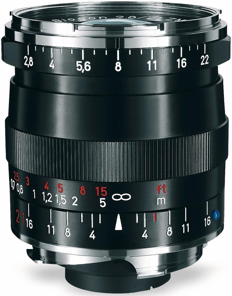 ZEISS Biogon T* 21mm 1:2,8 ZM f. Leica M schwarz