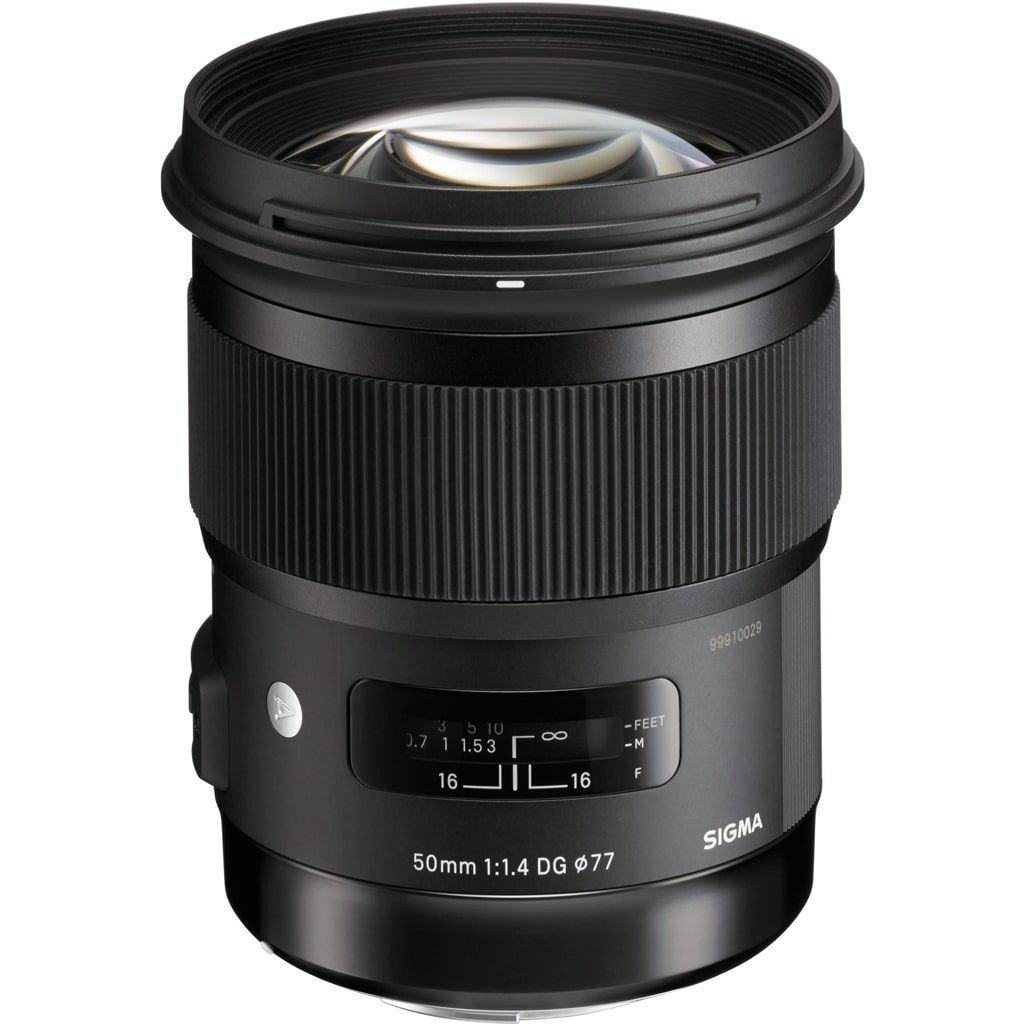 Sigma 50mm 1:1,4 DG HSM Art für Sony A-Mount inkl. Sony LA-EA4 Objektivadapter für Sony E-Mount Kameras