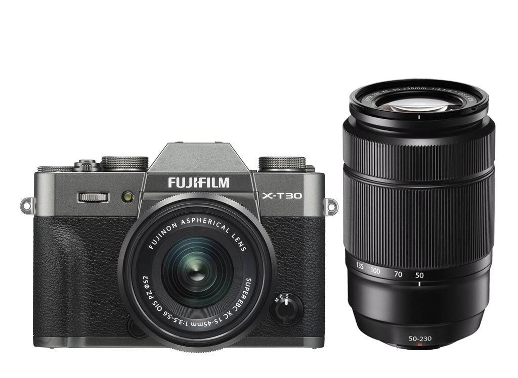Fujifilm X-T30 anthrazit inkl. XC 15-45mm 1:3,5-5,6 OIS PZ & XC 50-230mm 1:4,5-6,7 OIS II