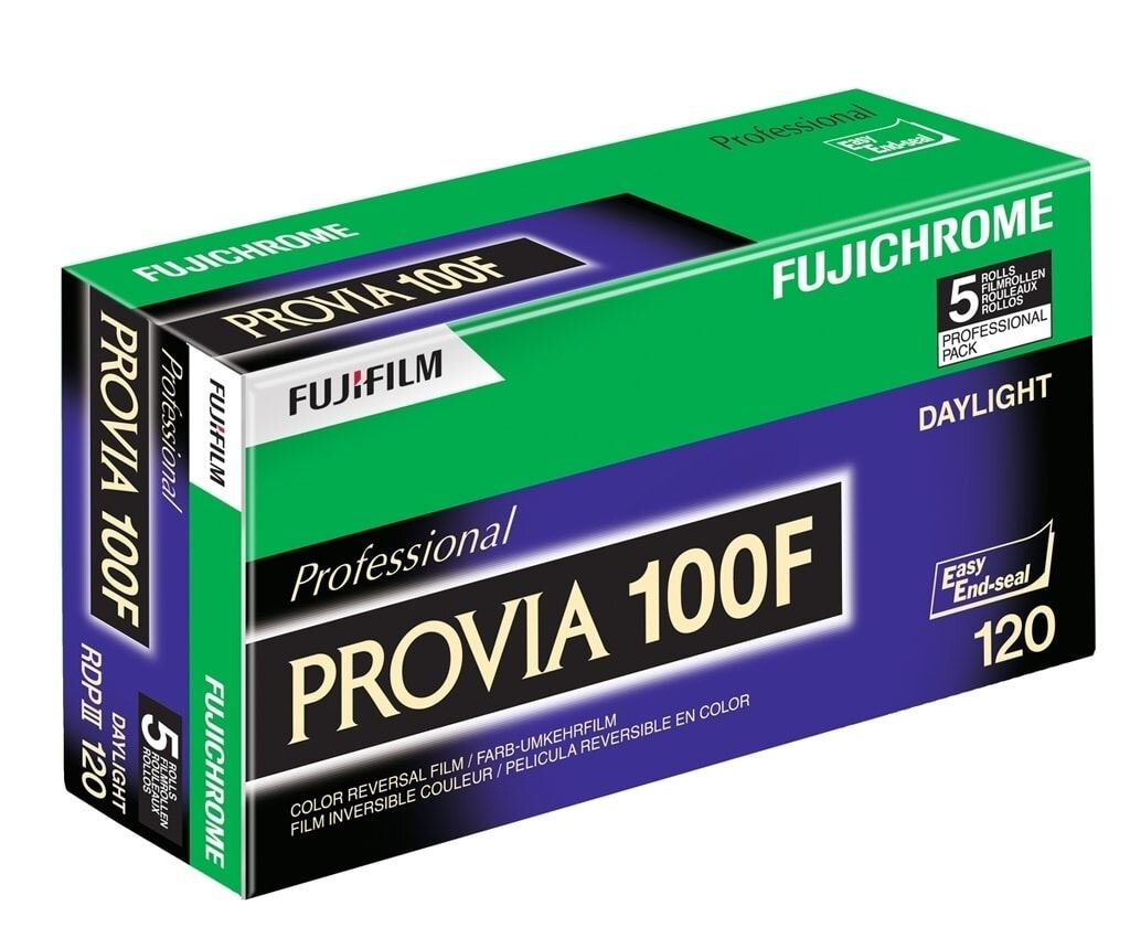 Fujifilm Provia 100F 120 5er Pack Dia-Rollfilm