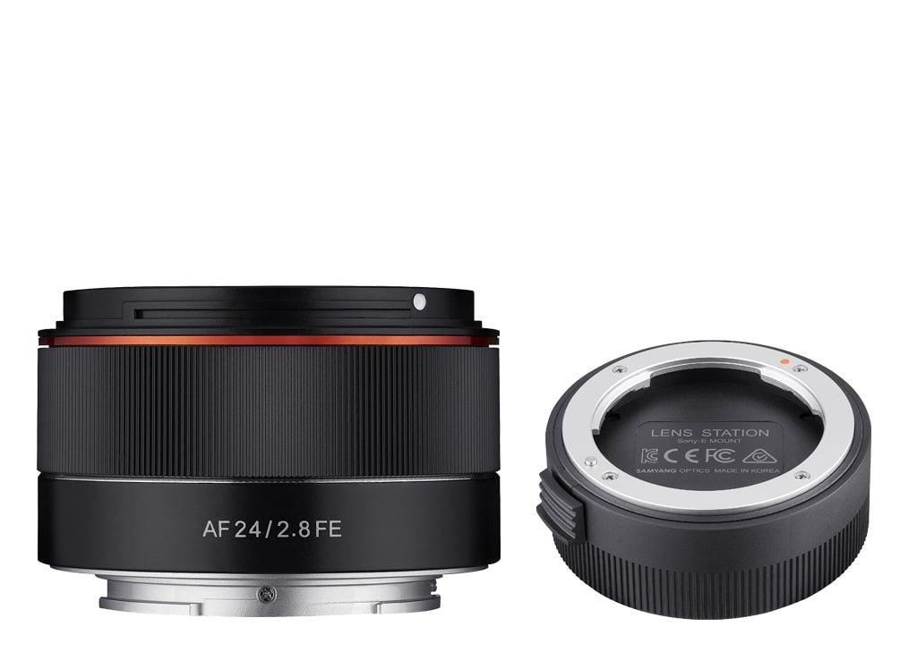 Samyang AF 24mm 1:2,8 FE inkl. Lens Station für Sony E