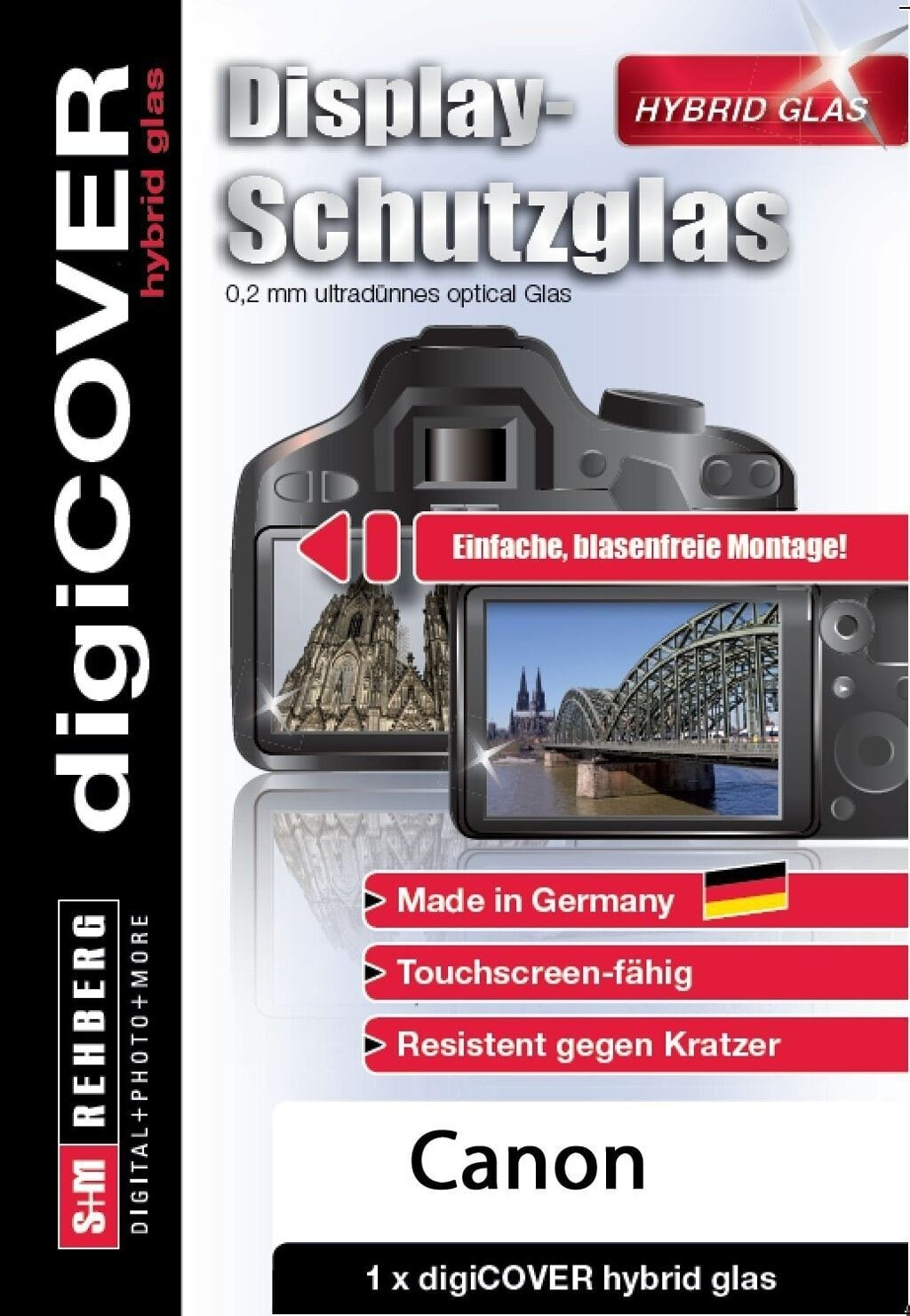 digiCOVER Display Schutzglas f. Canon G1X III/G5X/G9X/G9X II