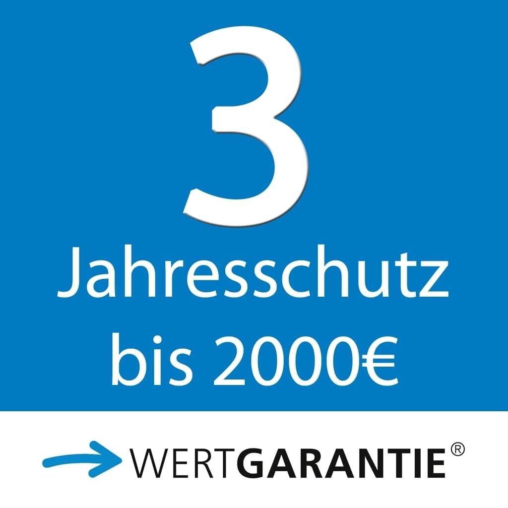 Wertgarantie 3 Jahresschutz bis 2000,- Euro