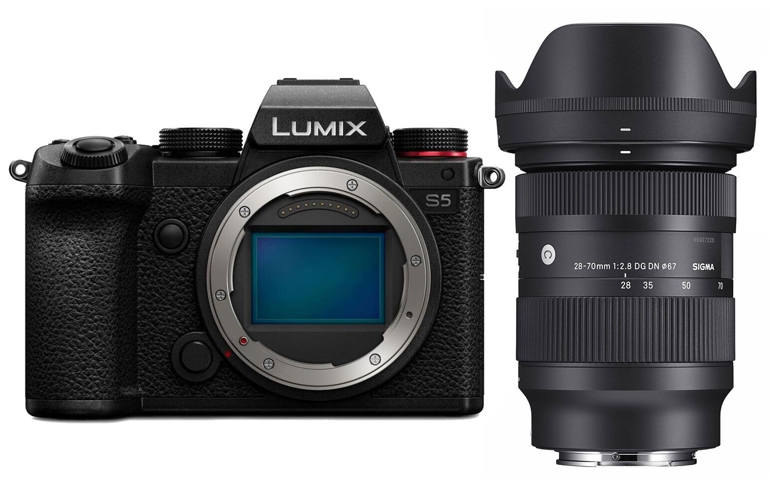 Panasonic LUMIX DC-S5 (DC-S5E-K) + Sigma C 28-70mm 2.8 DG DN für L-Mount