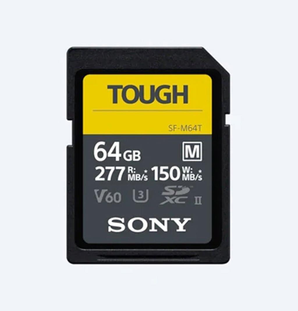 Sony SDXC 64GB Cl10 UHS-II U3 V60 TOUGH 277/150 MB/s Speicherkarte