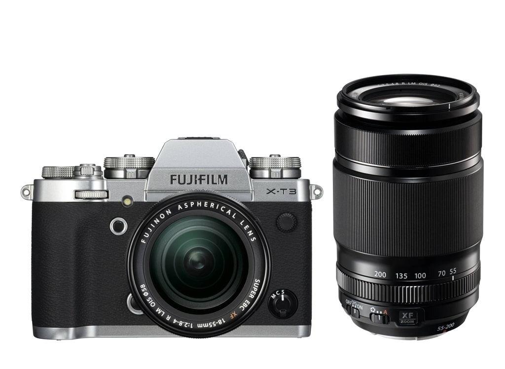 Fujifilm X-T3 silber inkl. XF 18-55mm 1:2,8-4,0 R LM OIS + XF 55-200mm 3,5-4,8 R LM OIS