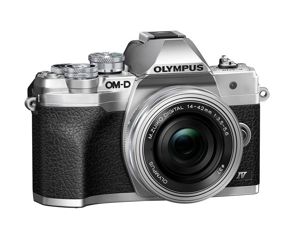 Olympus OM-D E-M10 Mark IV silber + M. Zuiko Dig. 14-42mm 1:3,5-5,6 EZ
