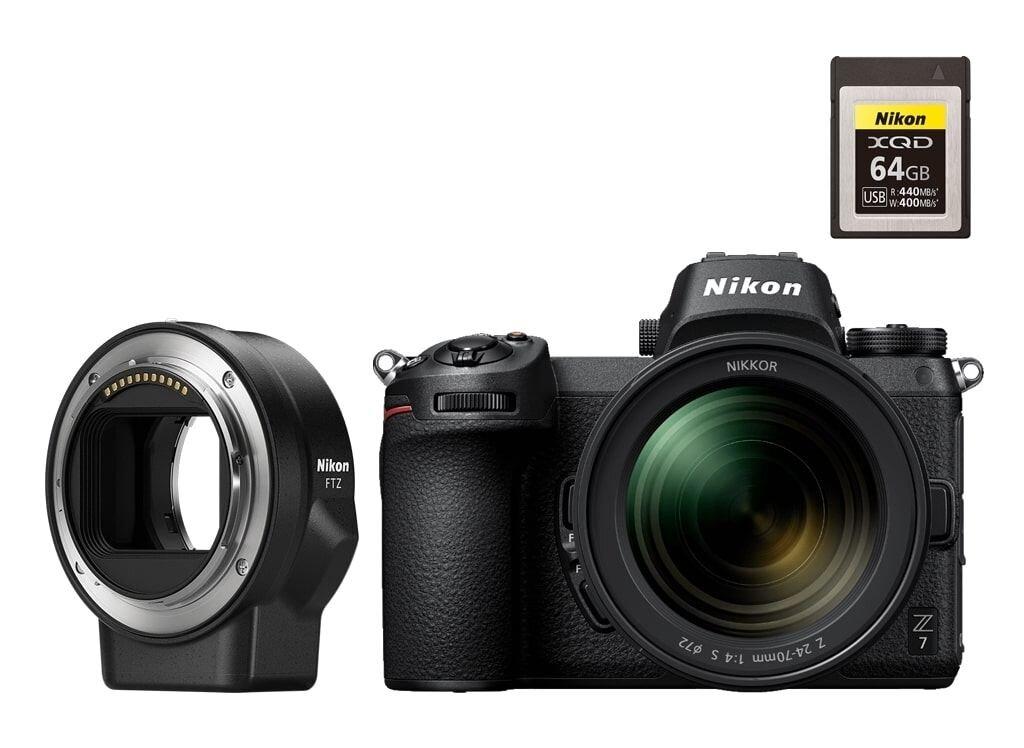 Nikon Z7 + NIKKOR Z 24-70mm 1:4,0 S + FTZ Objektivadapter + Nikon XQD 64GB (440/400MB/s) Speicherkarte