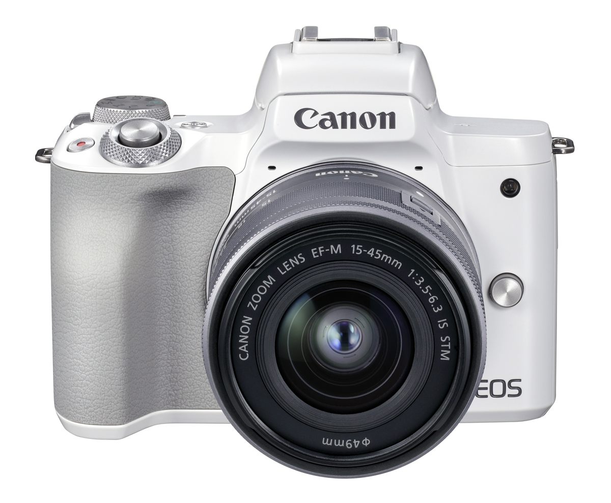 Canon EOS M50 II weiß + EF-M 15-45 mm IS STM