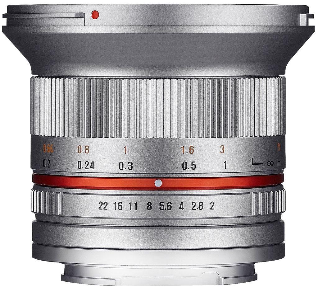 Samyang 12mm 1:2,0 NCS CS Fuji X silber