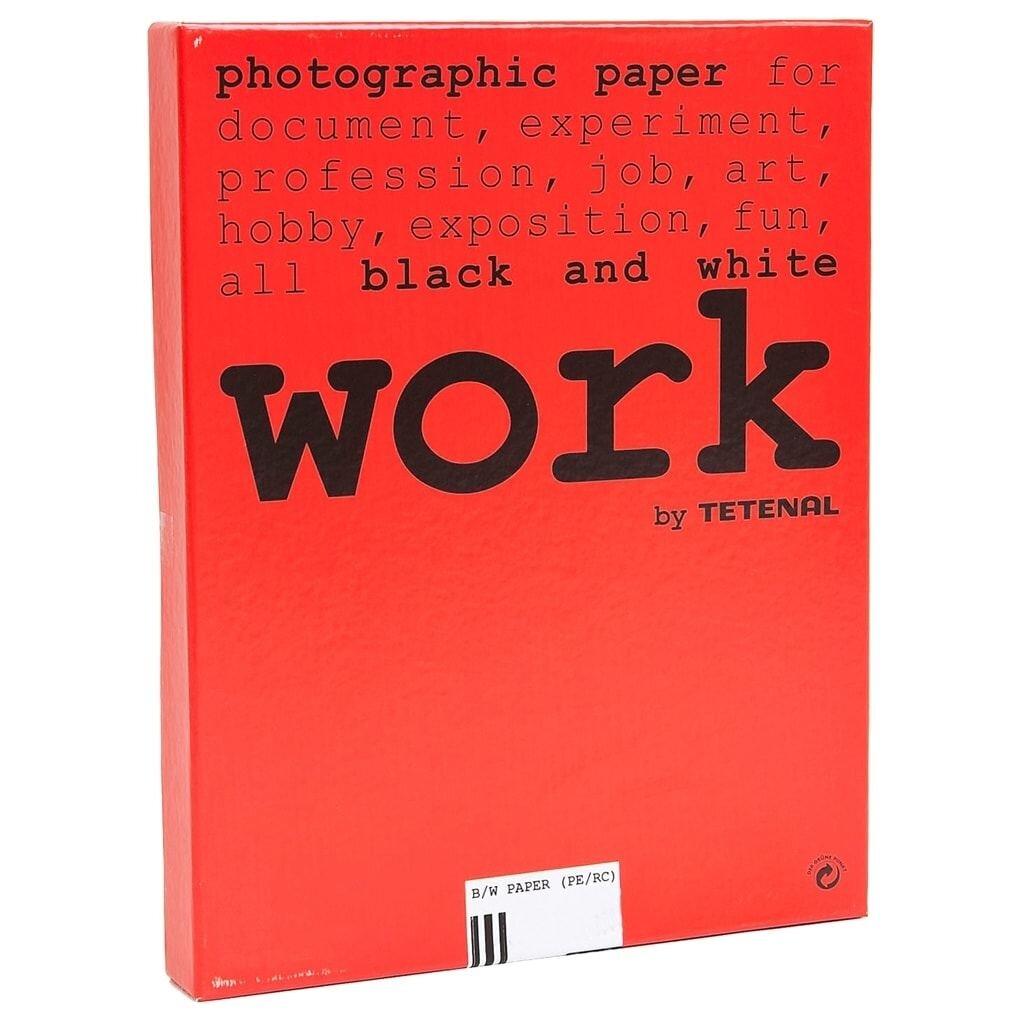 Tetenal work Papier 8,9 x 12,7 cm Grad.2, Glänzend 100 Bl.