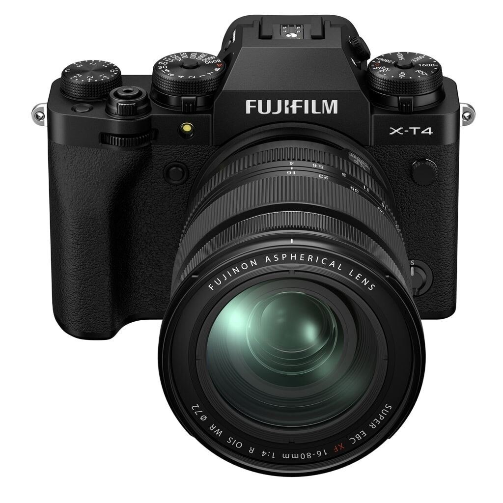 Fujifilm X-T4 schwarz inkl. XF 16-80mm 1:4 R OIS WR + VG-XT4 Batteriehandgriff