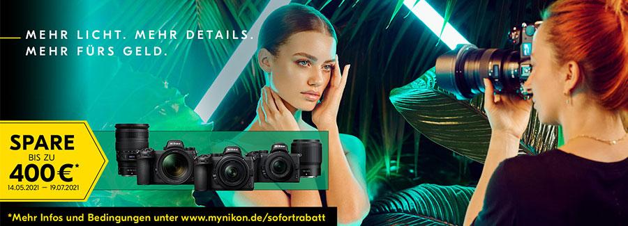 Nikon Sommer 2021 Sofort-Rabatt Aktion bei Fotomax